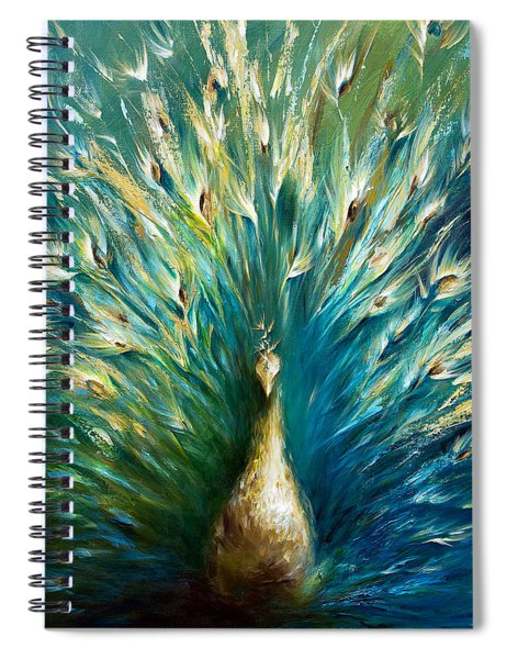 Show Off 3 White Peacock Spiral Notebook