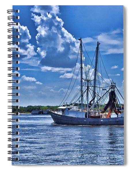 Shrimp Boat Heading To Sea Spiral Notebook