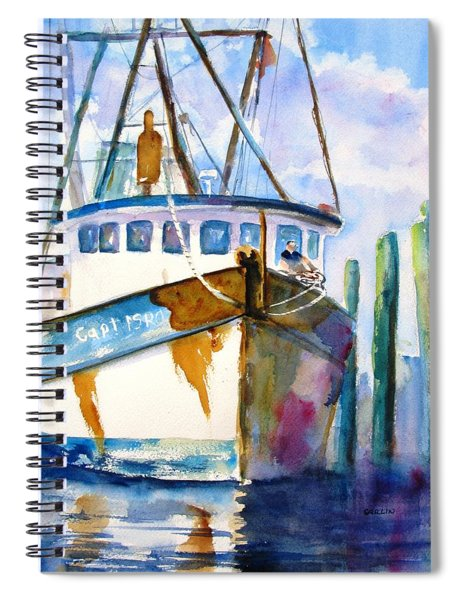 Shrimp Boat Isra Spiral Notebook