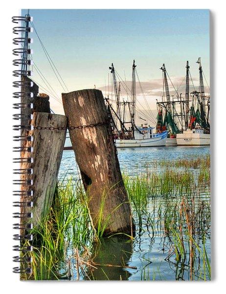 Shrimp Dock Pilings Spiral Notebook