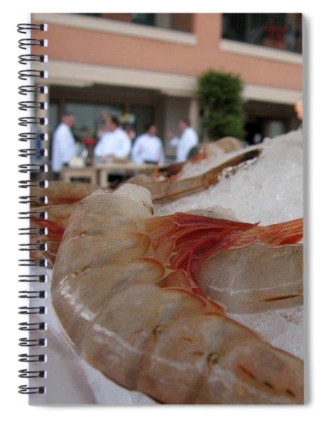 Shrimp On Ice Spiral Notebook