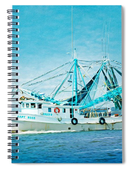 Shrimp Trawler Spiral Notebook