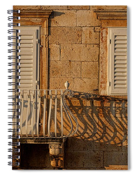 Shutters And Shadows - Hvar Croatia Spiral Notebook