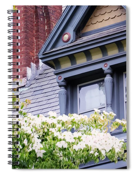 Side Window And Dogwoods Spiral Notebook