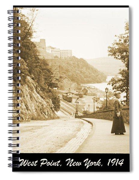 Sidewalk Conversation West Point New York 1914 Spiral Notebook