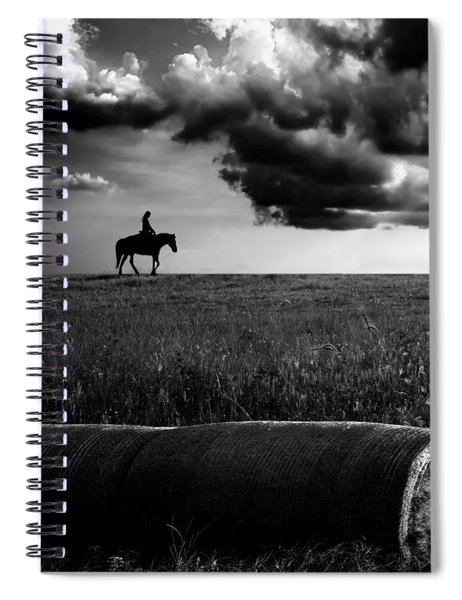 Silhouette Bw Spiral Notebook