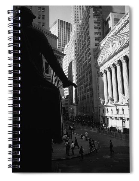 Silhouette Of George Washington Statue Spiral Notebook