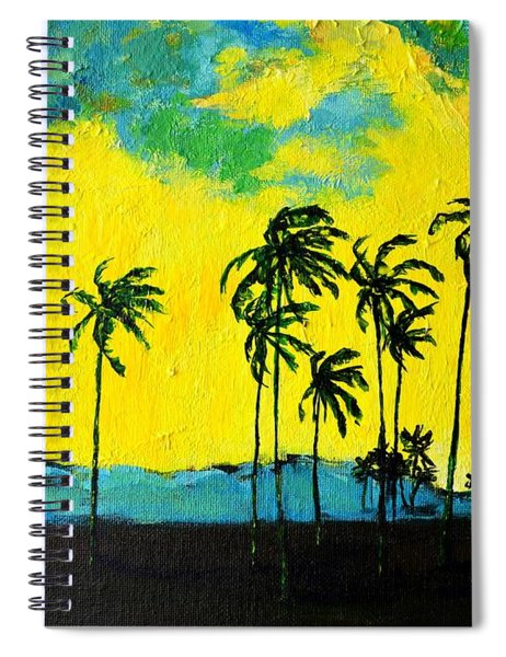 Silhouette Of Nature Spiral Notebook
