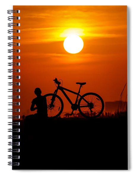 Spiral Notebook featuring the photograph Silhouette by Robert L Jackson