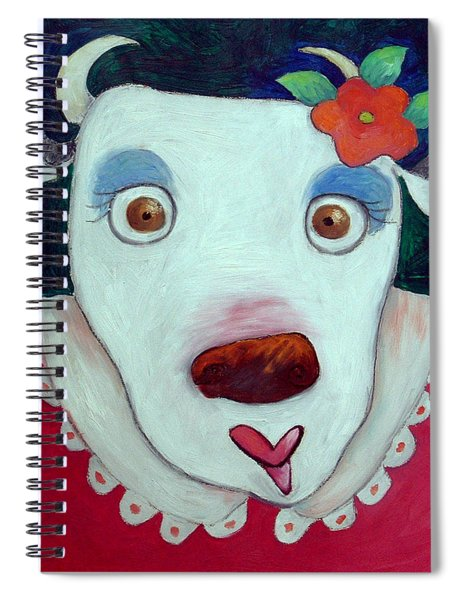 Silly Cow Oil On Canvas Spiral Notebook