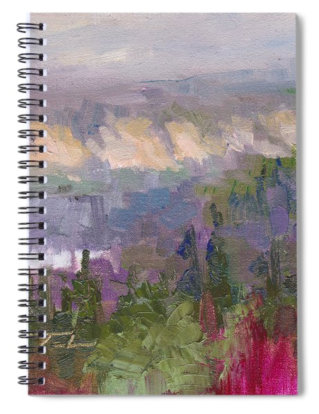 Silver And Gold - Matanuska Canyon Cliffs River Fireweed Spiral Notebook