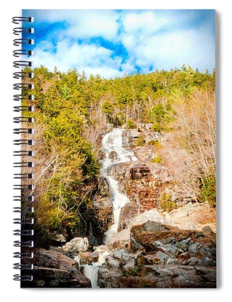 Silver Cascade  Spiral Notebook