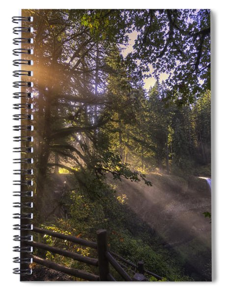 Silver Falls Light Spiral Notebook