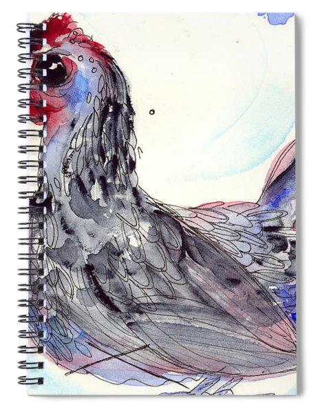 Silver Hen Spiral Notebook