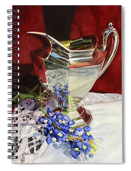 Silver Pitcher And Bluebonnet Spiral Notebook