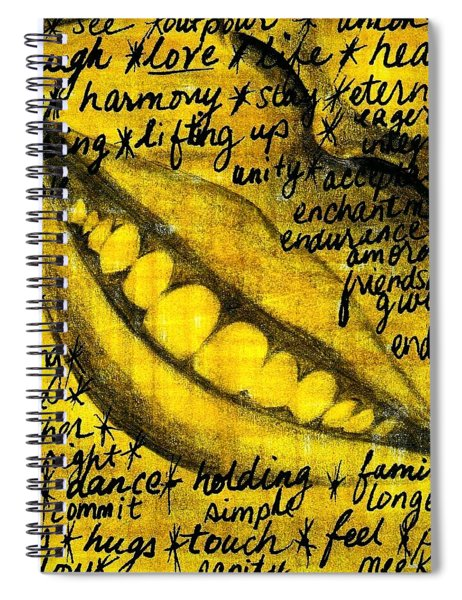 Simply Smile And Your Golden Virtues Will Be Written All Over You Spiral Notebook