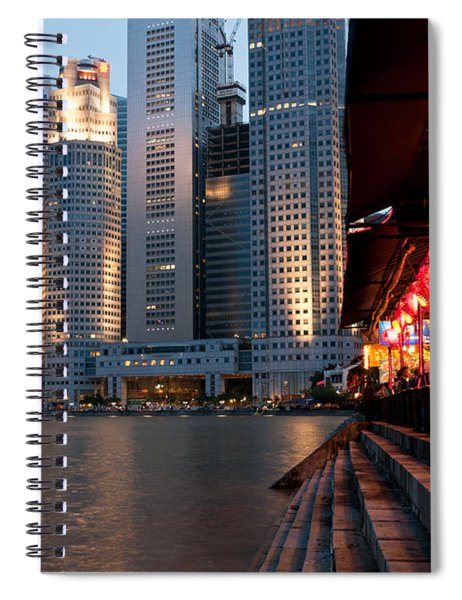 Singapore Boat Quay 02 Spiral Notebook