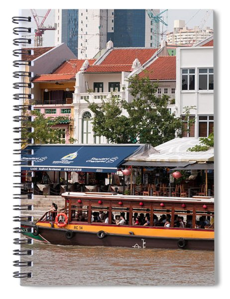 Singapore Boat Quay 04 Spiral Notebook