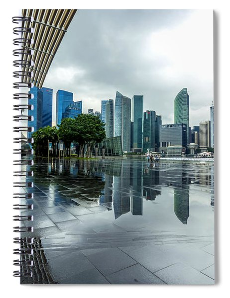 Singapore Cityscape Spiral Notebook