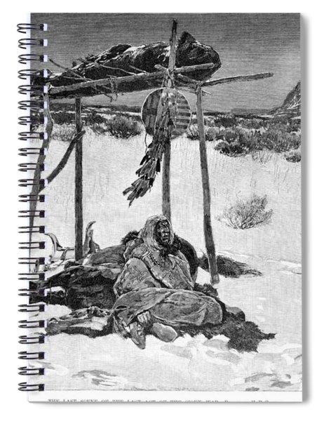 Sioux Funeral, 1891 Spiral Notebook