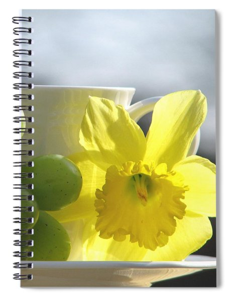 Sipping Spring Spiral Notebook
