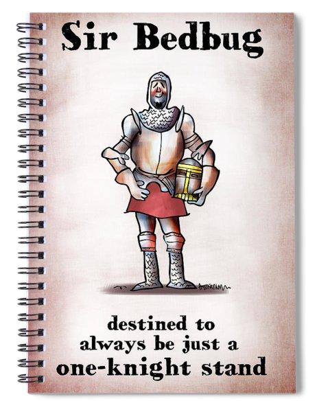 Sir Bedbug Spiral Notebook