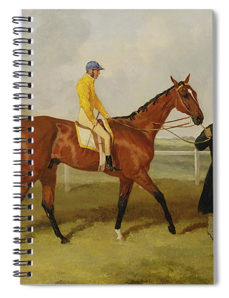Sir Tatton Sykes Leading In The Horse Sir Tatton Sykes With William Scott Up Spiral Notebook