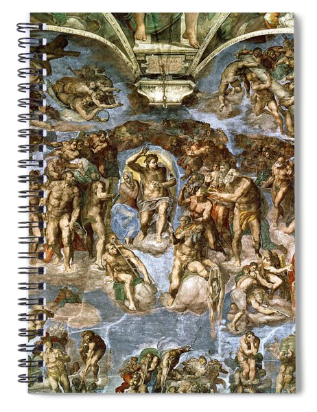 Sistine Chapel The Last Judgement, 1538-41 Fresco Pre-restoration Spiral Notebook
