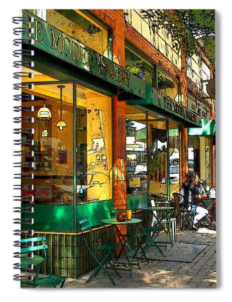 Sitting At The Bakery Spiral Notebook