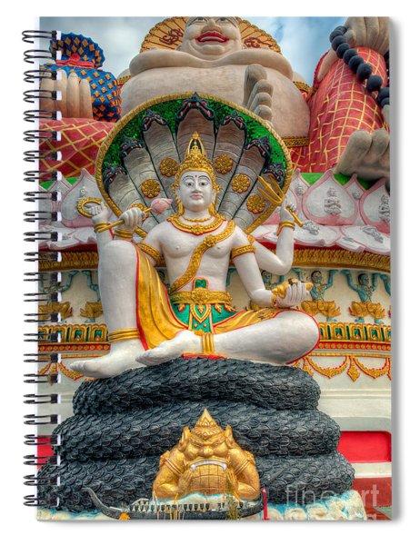 Sitting Buddhas Spiral Notebook
