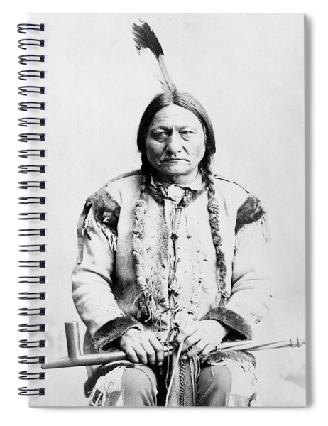 Sitting Bull Spiral Notebook by War Is Hell Store