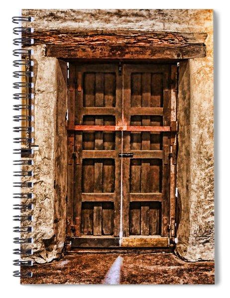 Sitting By The Door By Diana Sainz Spiral Notebook
