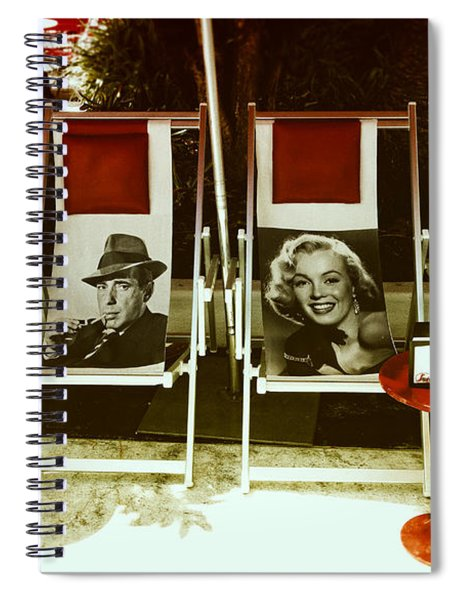 Sitting With Movie Stars Spiral Notebook