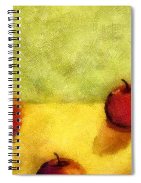 Six Apples Spiral Notebook by Michelle Calkins