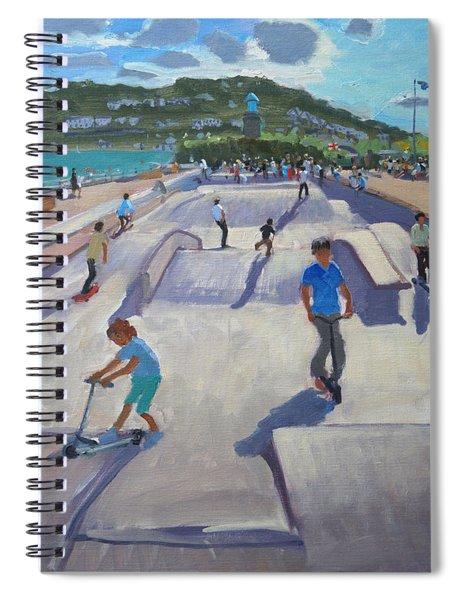 Skateboaders  Teignmouth Spiral Notebook