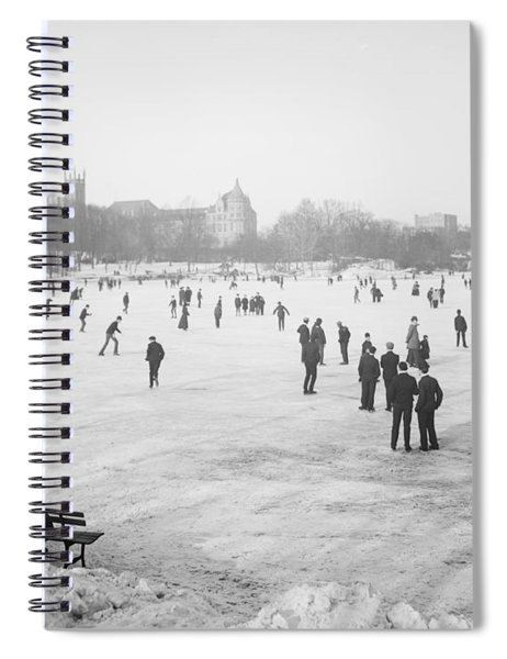 Skating In Central Park Spiral Notebook by Anonymous