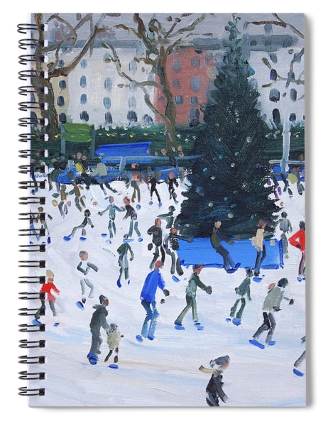 Skating  Natural History Museum Spiral Notebook by Andrew Macara