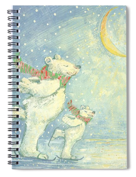 Skating Polar Bears Spiral Notebook