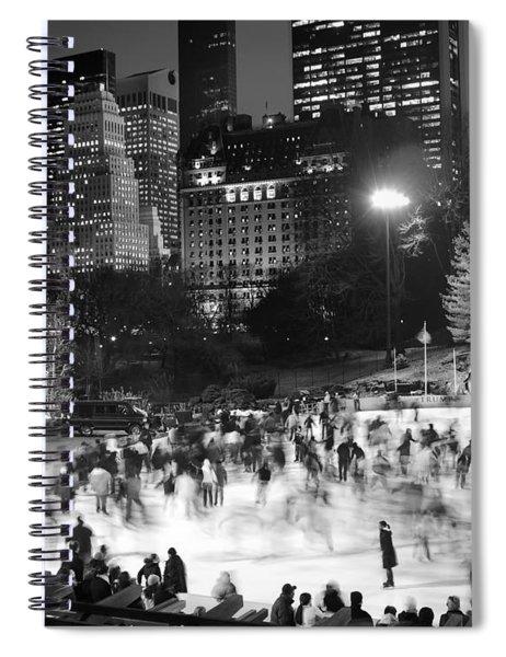 New York City - Skating Rink - Monochrome Spiral Notebook