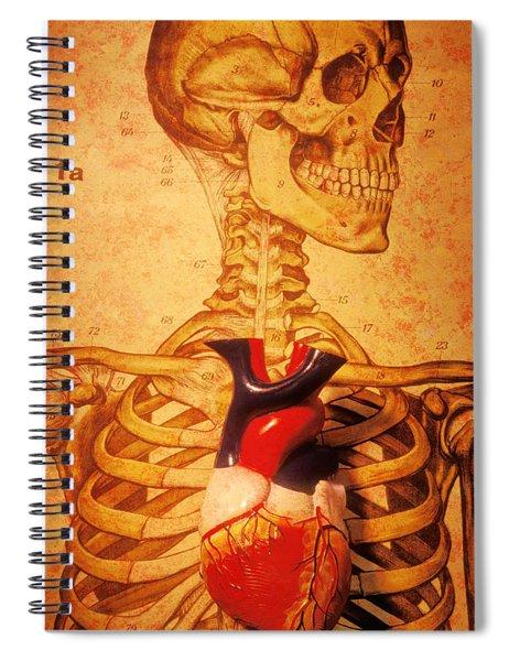 Skeleton And Heart Model Spiral Notebook