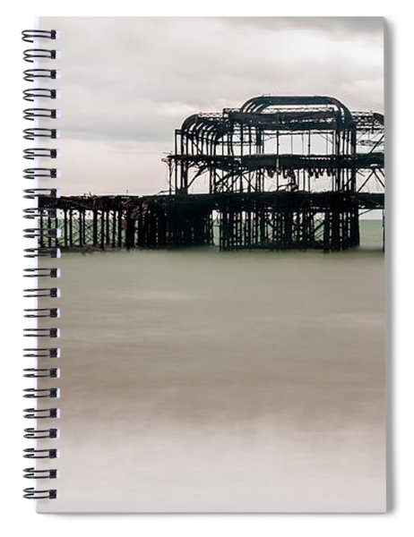 Skeleton Of West Pier At Brighton Spiral Notebook