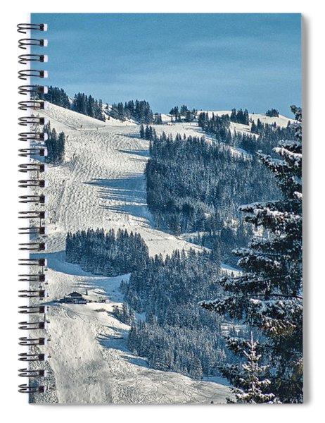 Ski Run Spiral Notebook