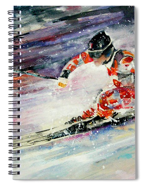 Skiing 01 Spiral Notebook