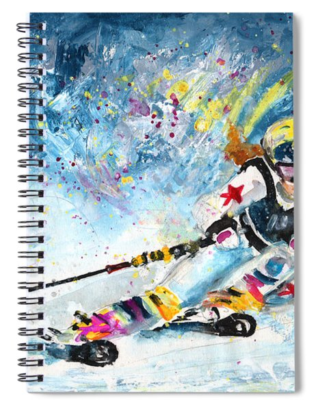 Skiing 03 Spiral Notebook