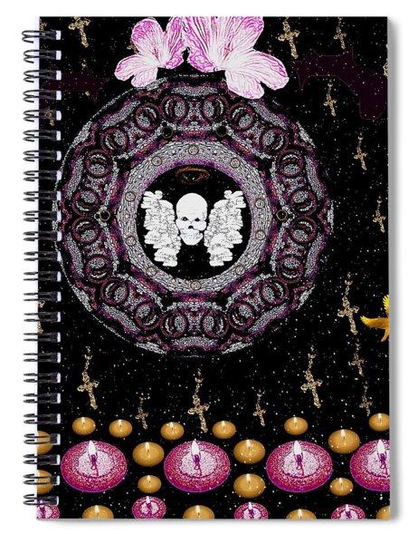 Skull Night In Peace Spiral Notebook