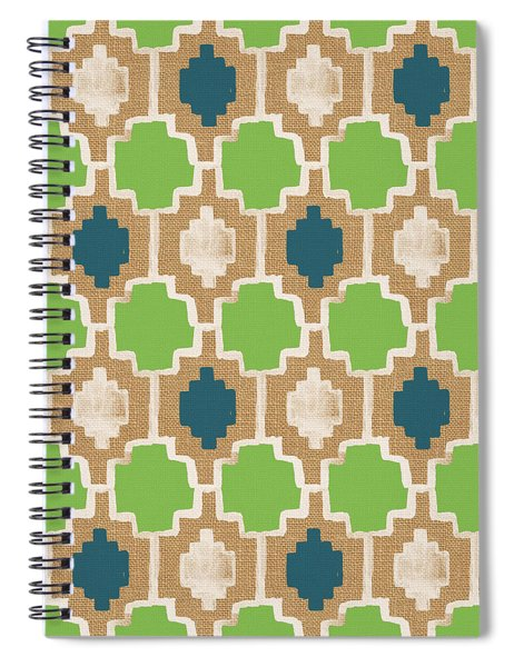 Sky And Sea Tile Pattern Spiral Notebook