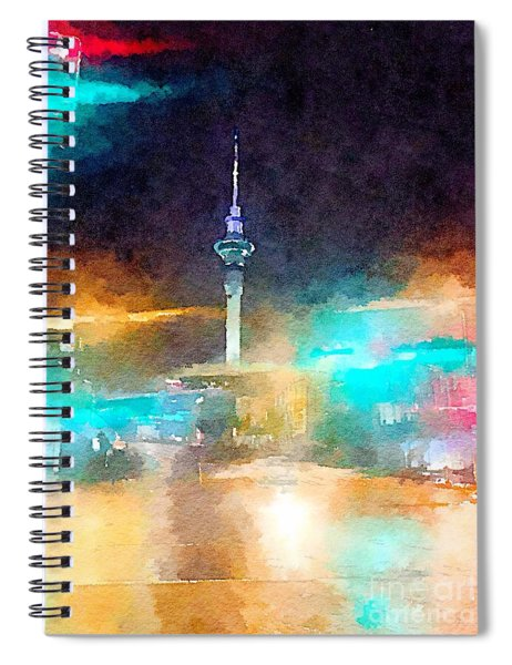 Sky Tower By Night Spiral Notebook