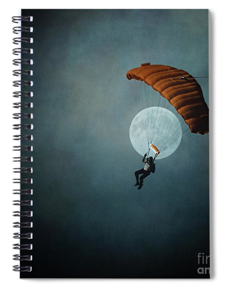 Skydiver's Moon Spiral Notebook