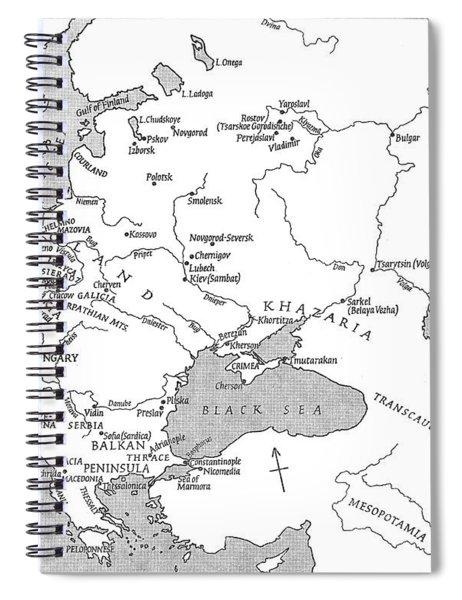 Slavic Population Map Spiral Notebook