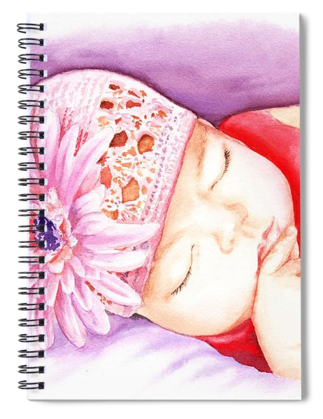 Sleeping Baby Spiral Notebook